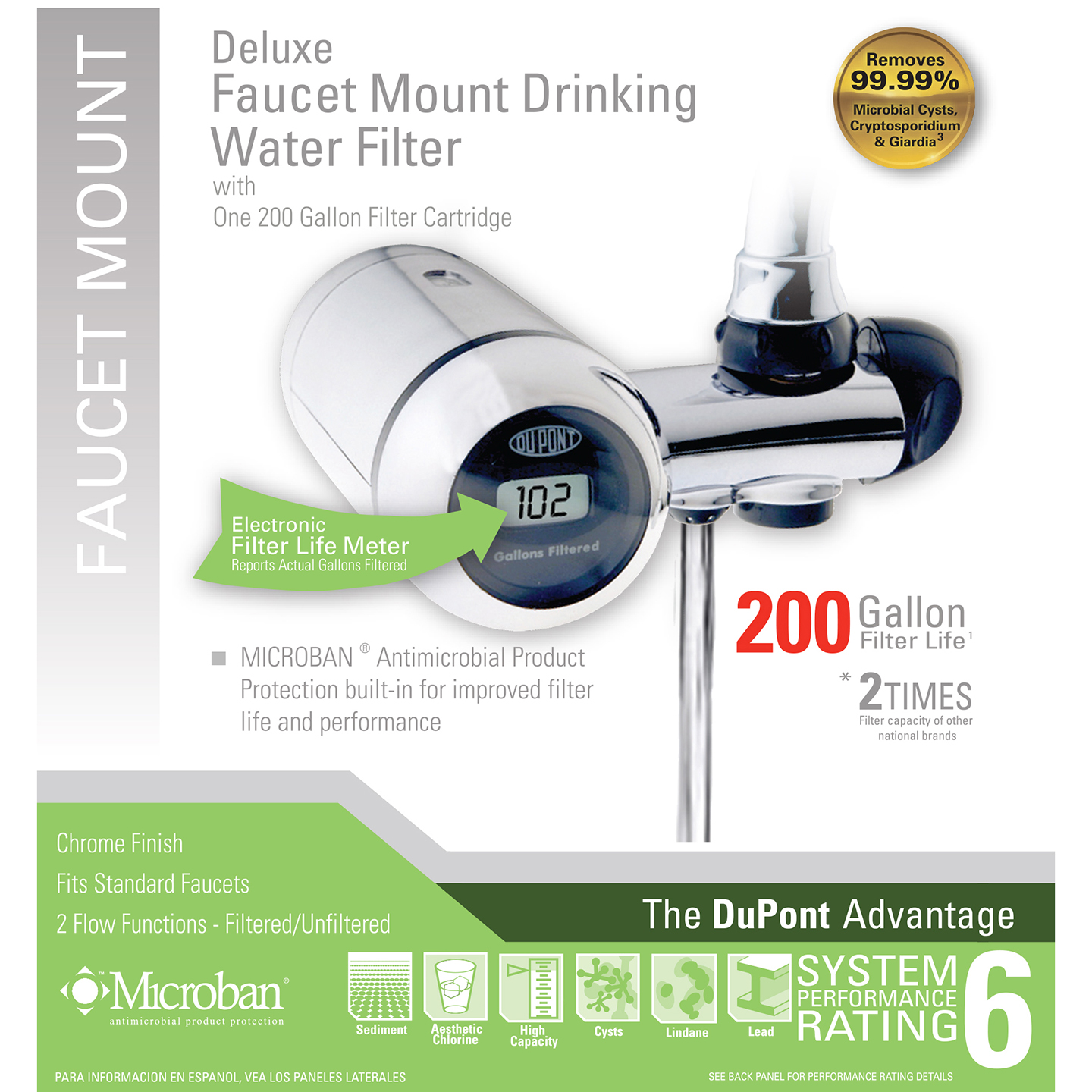 DuPont WFFM350XCH Deluxe Faucet Mount Drinking Water Filter System ...