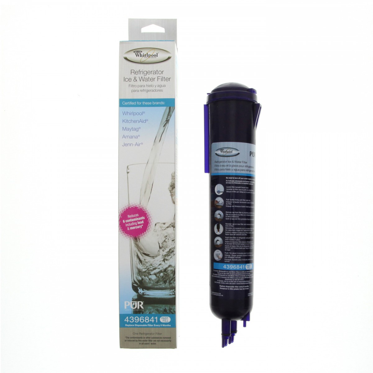 Whirlpool 4396841 Refrigerator Water Filter