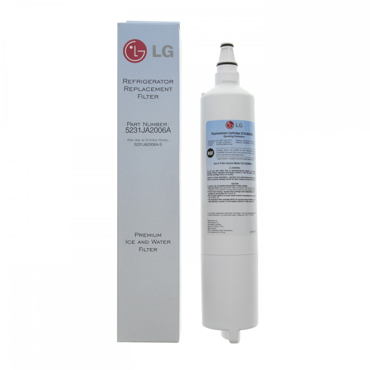 lg refrigerator replacement filter. lg 5231ja2006a refrigerator water filter replacement cartridge lg g
