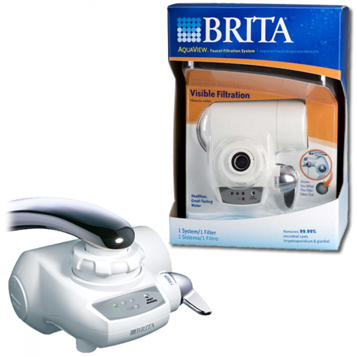 42645 Brita AquaView AVFF-100 Faucet Filter System - White