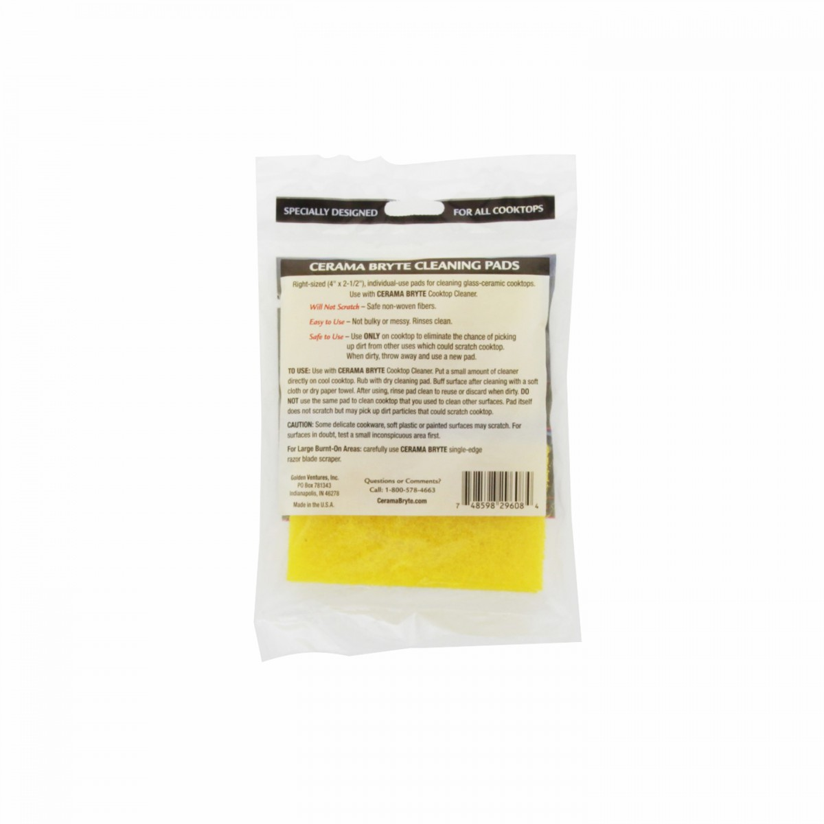 29128 Cerama Bryte Ceramic Cooktop Cleaning Pads