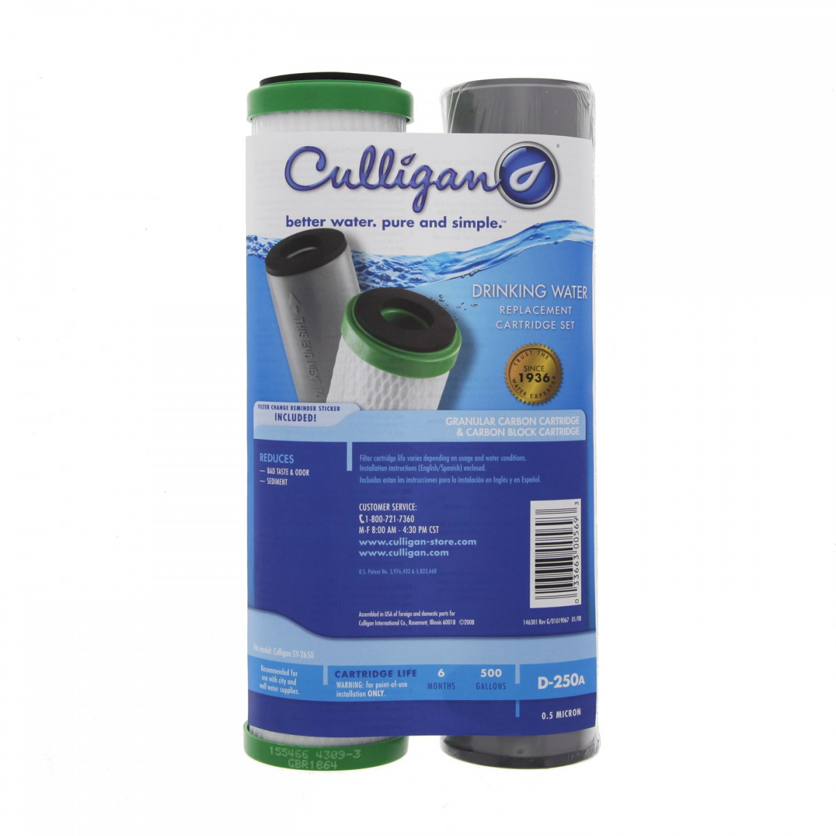 Culligan D 250a Undersink Water Filter Set Fridgefilters Com