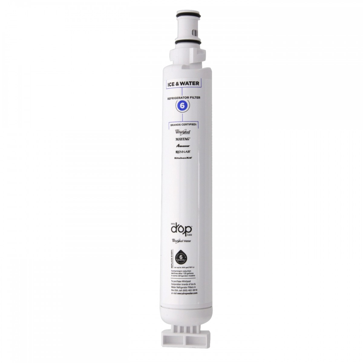 whirlpool whole house water filter. Whirlpool EveryDrop EDR6D1 (Filter 6) Ice And Water Refrigerator Filter Whole House