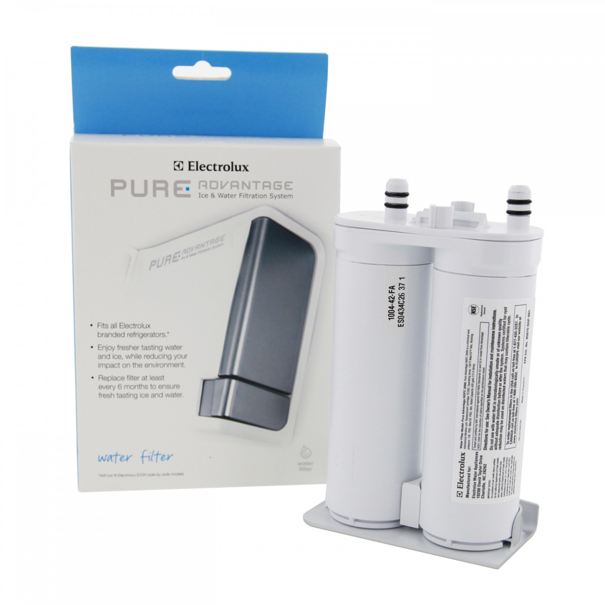 electrolux air filter. electrolux pure advantage ewf01 refrigerator water filter combo with eafcbf air (refrigerator t