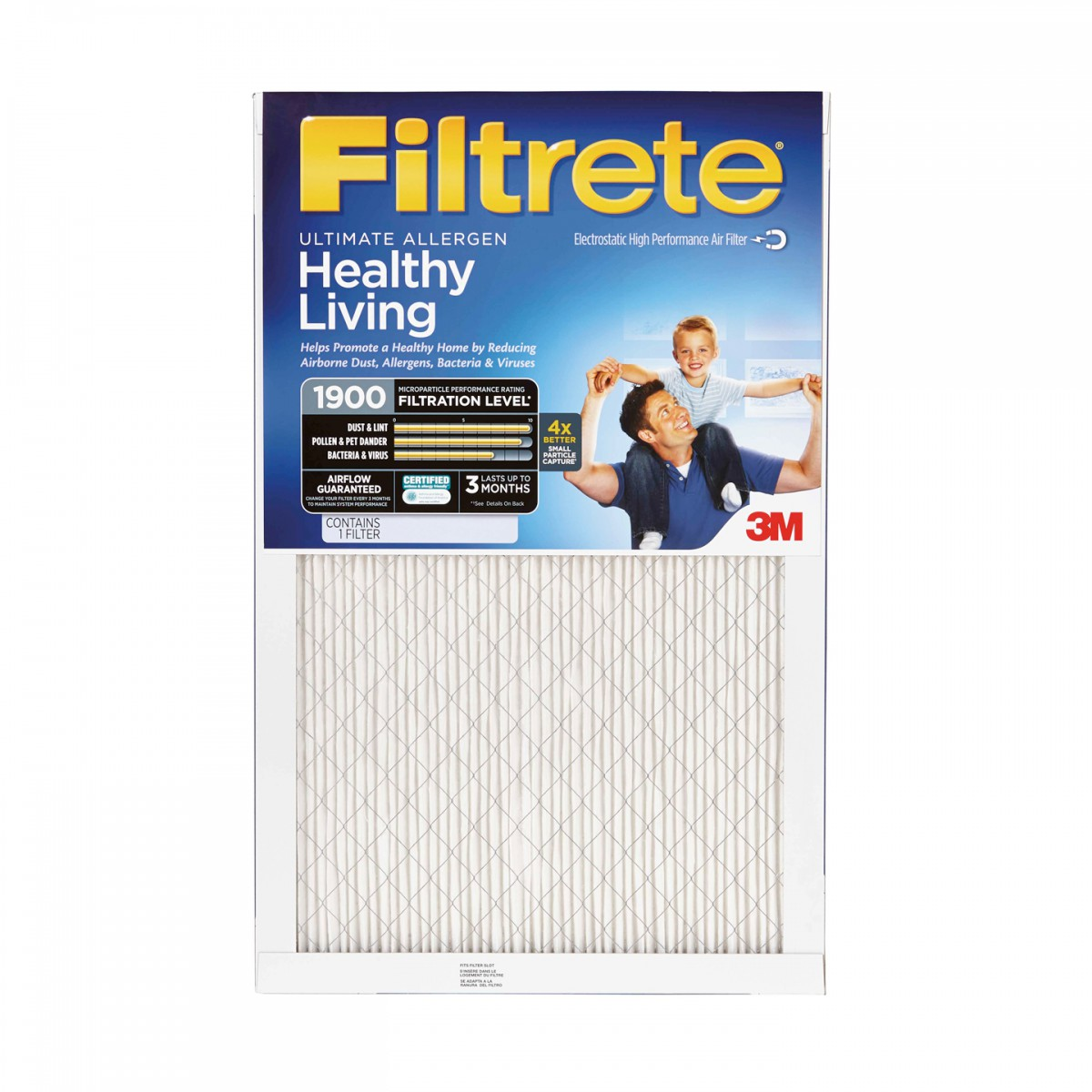 20x24x1 Filtrete 1900 Ultimate Allergen Filter By 3m