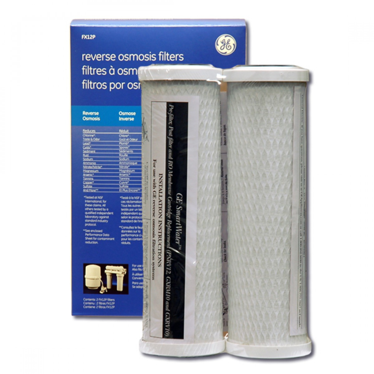 fx12p ge smartwater reverse osmosis filter set. Black Bedroom Furniture Sets. Home Design Ideas