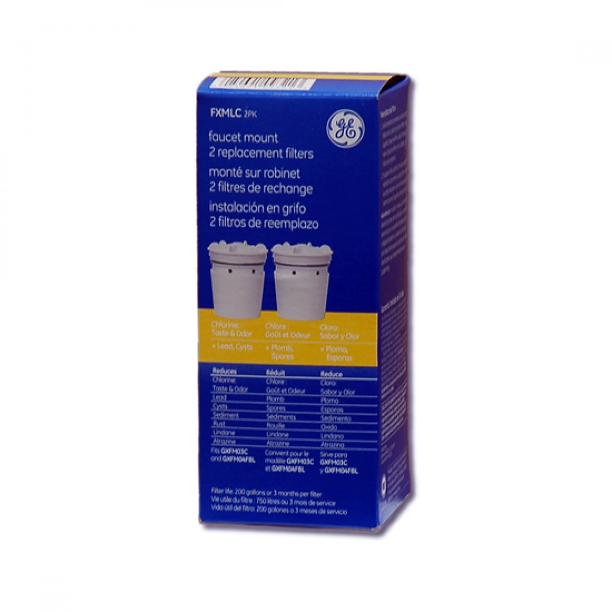 FXMLC-2PK GE SmartWater Faucet Filter Replacement Cartridge (2-Pack)