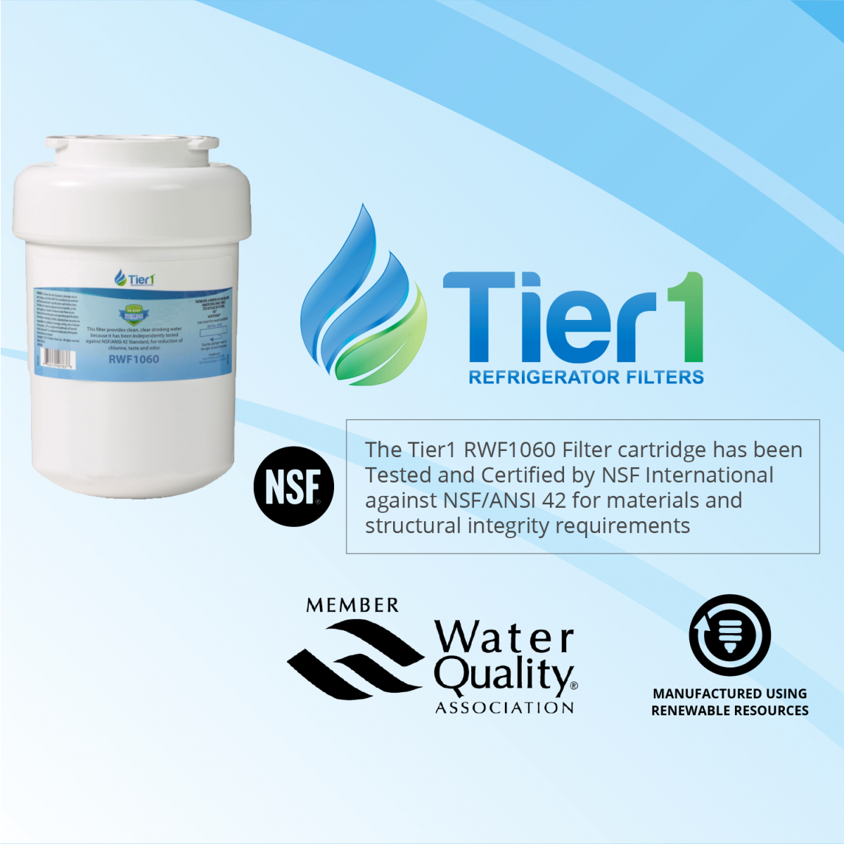 ge mwf smartwater comparable filter replacement by tier1 chart 3 - Mwf Water Filter