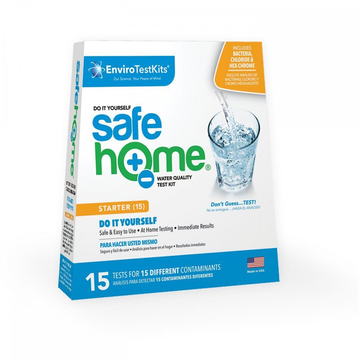 15 Panel Water Quality Test Kit By Safe Home