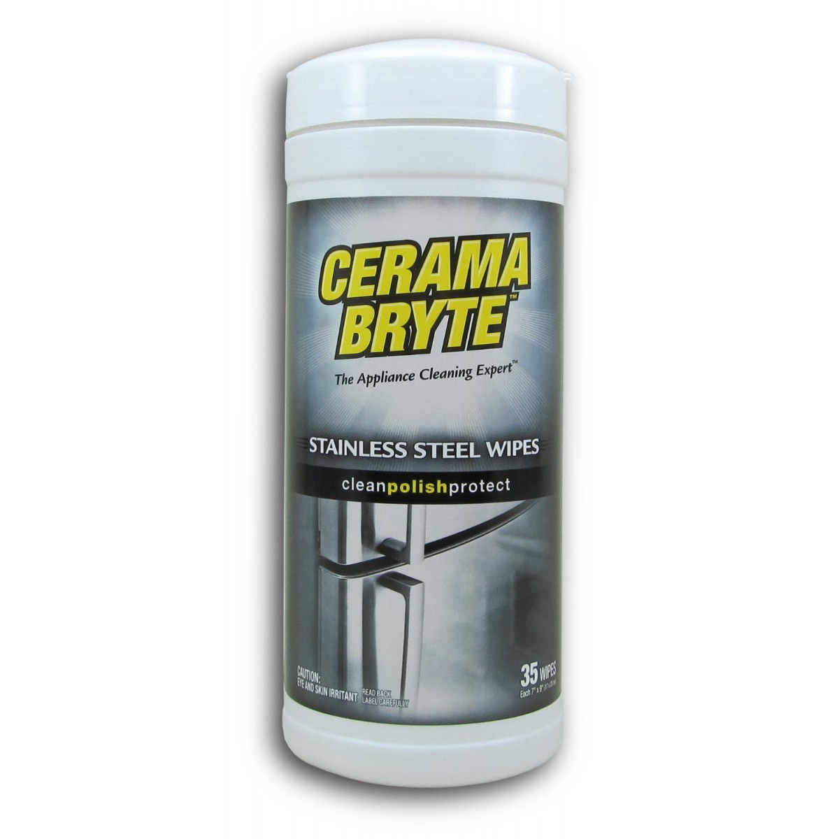 48635 Cerama Bryte Stainless Steel Cleaner Wipes