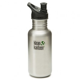 Klean Kanteen Stainless Steel Water Bottle w/Sport-Top (18 oz)
