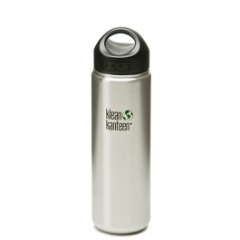 Klean Kanteen K27WSSL Stainless Steel Wide Mouth Water Bottle: 27 Ounce w/Loop-cap