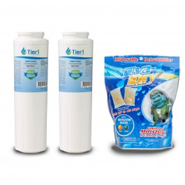 EveryDrop EDR4RXD1 Maytag UKF8001 Comparable Water Filter 2-Pack Plus Eva-Dry E-150 Silica Gel 2-Pack by Tier1