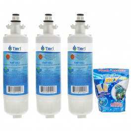 LG LT700P Comparable Refrigerator Water Filter (3-Pack) and Eva-Dry E-150 Silica Gel Twin Pack by Tier1