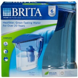 Brita Atlantis Blue Water Filter Pitcher (48 oz.)
