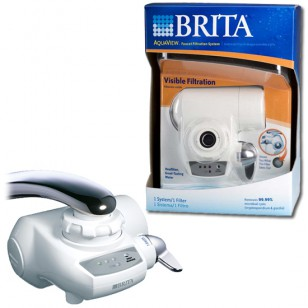 Brita 42645 / AquaView AVFF-100 Faucet Filter (White)