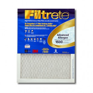 14x25x1 3M Filtrete Advanced Allergen Filter (1-Pack)