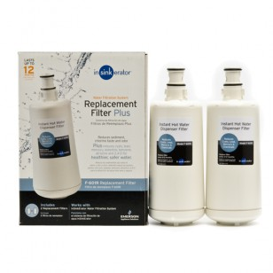 InSinkErator F-601R Instant Hot Water Dispenser Replacement Filter Cartridge (2-Pack)