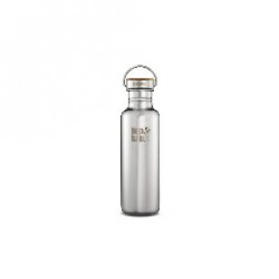 Klean Kanteen K27SSLRF-MS Stainless Steel Water Bottle: 27 oz. Mirrored Finish w/Bamboo Cap