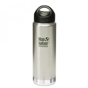 Klean Kanteen K20VWSSL Stainless Steel Wide Insulated Bottle: 16 Ounce w/Loop-cap