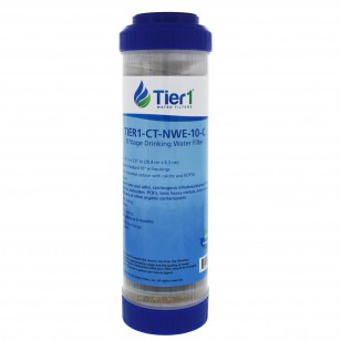 10 Stage 10 x 2.5 Inch Countertop or Undersink Filter Cartridge Replacement by Tier1