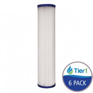 SPC-25-1020 Comparable Hydronix Pleated Sediment Water Filter by Tier1 (6-Pack)