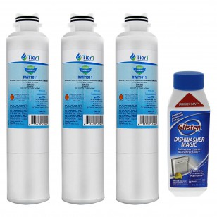 Samsung DA29-00020B Comparable Refrigerator Water Filter Replacement and  Glisten Dishwasher Magic Dishwasher Cleaner Bundle by Tier1 (3-Pack)