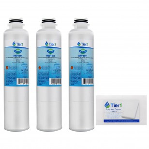 Samsung DA29-00020B Comparable Refrigerator Water Filter Replacement (3-Pack) and Magic Cleaning Sponge (12-Pack) kit by Tier1