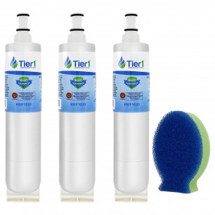 EveryDrop EDR5RXD1 Whirlpool 4396508/4396510 Comparable Refrigerator Water Filter and DishFish (3 Pack) by Tier1