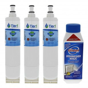 EDR5RXD1 EveryDrop 4396508/4396510 Whirlpool Comparable Refrigerator Water Filter Replacementand DM06N Glisten Dishwasher Magic Dishwasher Cleaner Bundle by Tier1