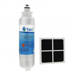 LG LT800P and LT120F Comparable Refrigerator Water Filter and Air Filter Combo By Tier1