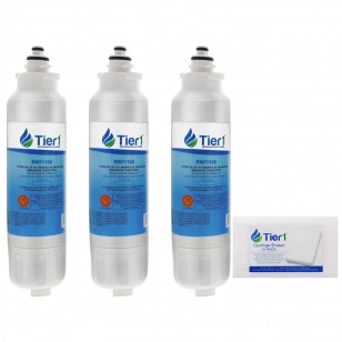 LG LT800P Comparable Refrigerator Water Filter Replacement (3-Pack) and Magic Cleaning Sponge (12-Pack) kit by Tier1