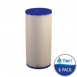 SPC-45-1020 Comparable 10-inch x 4.5-inch Pleated Sediment Water Filter by Tier1 (6-Pack)