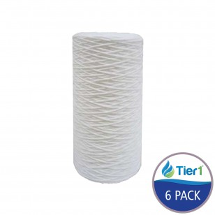 SWC-45-1005 Comparable Hydronix 10-Inch x 4.5-Inch String-Wound Filter by Tier1 (6-Pack)