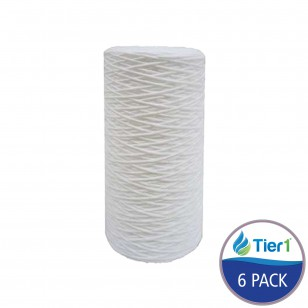SWC-45-1020 Comparable Hydronix String Wound Sediment Water Filter by Tier1 (6-Pack)
