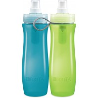 Brita Water Purifier Bottle: Blue / Green 2-Pack With Filter Inside