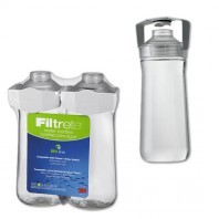 3M Filtrete RB01-W01-2 Water Station Replacement Water Bottle (16.9 oz, 2-Pack)