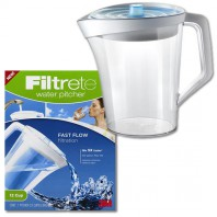 3M Filtrete WP01-WH-12 Fast Flow Water Filter Pitcher
