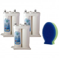 Frigidaire WF2CB Electrolux EWF01 EWF2CBPA Comparable Refrigerator Water Filter Replacement and DishFish (3 Pack)