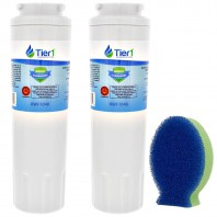 EveryDrop EDR4RXD1 Maytag UKF8001 Comparable Refrigerator Water Filter and DishFish (2 Pack) by Tier1