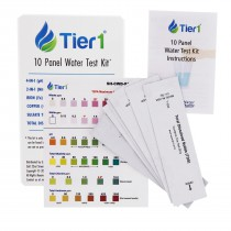 10 Panel Water Quality Test Kit by Tier1