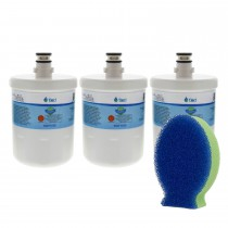 LG 5231JA2002A / LT500P Comparable Refrigerator Water Filter and DishFish (3 Pack) by Tier1