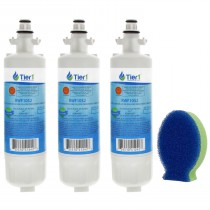 LG LT700P Comparable Refrigerator Water Filter Replacement and DishFish (3 Pack) by Tier1