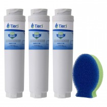 Bosch 644845 / UltraClarity REPLFLTR10 Comparable Refrigerator Water Filter and DishFish (3 Pack) by Tier1