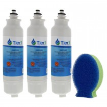 LG LT800P Comparable Refrigerator Water Filter and DishFish (3 Pack) by Tier1