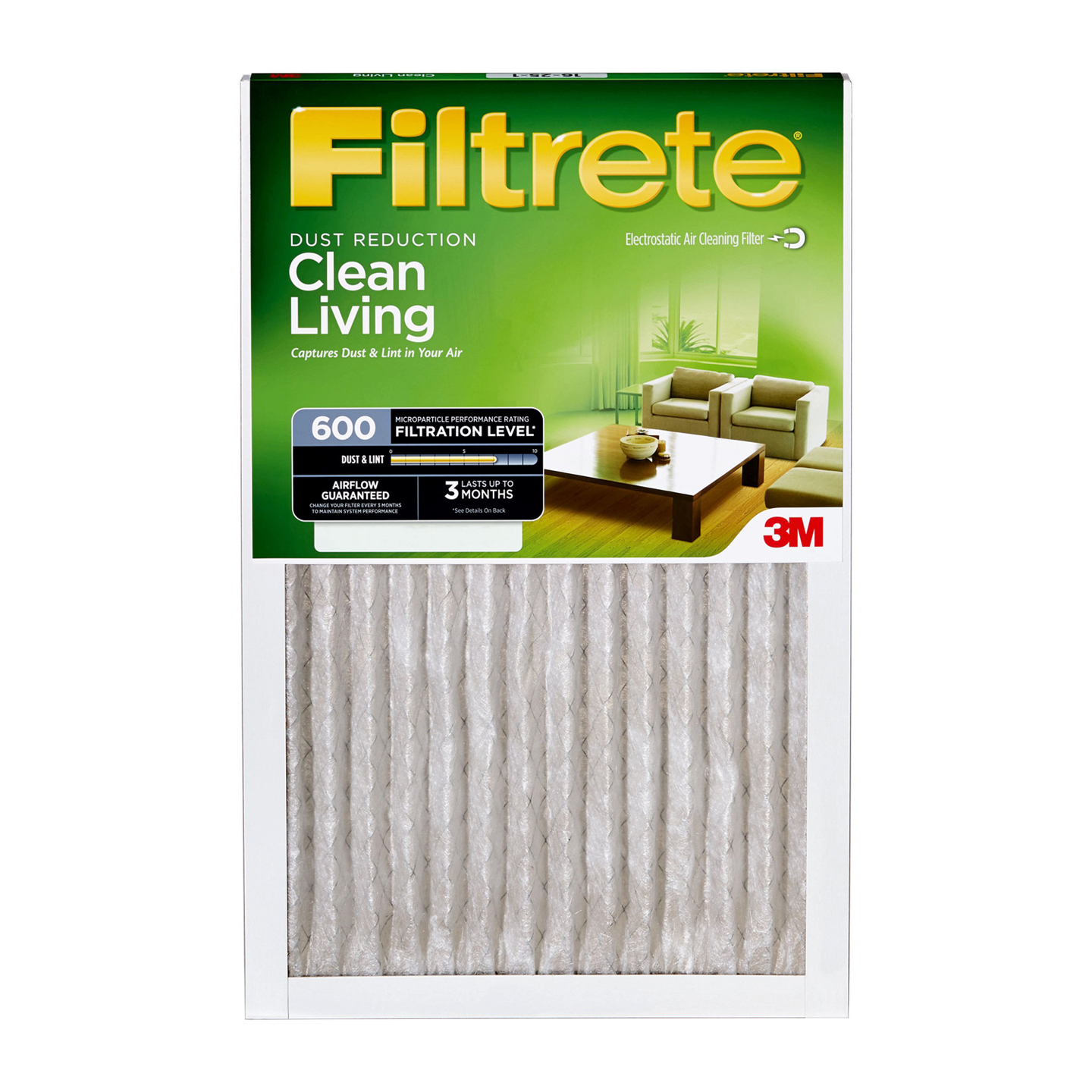 """Filtrete 9835 Dust and Pollen Airflow Systems Riddle - 1"""" Height x 14"""" Width"""