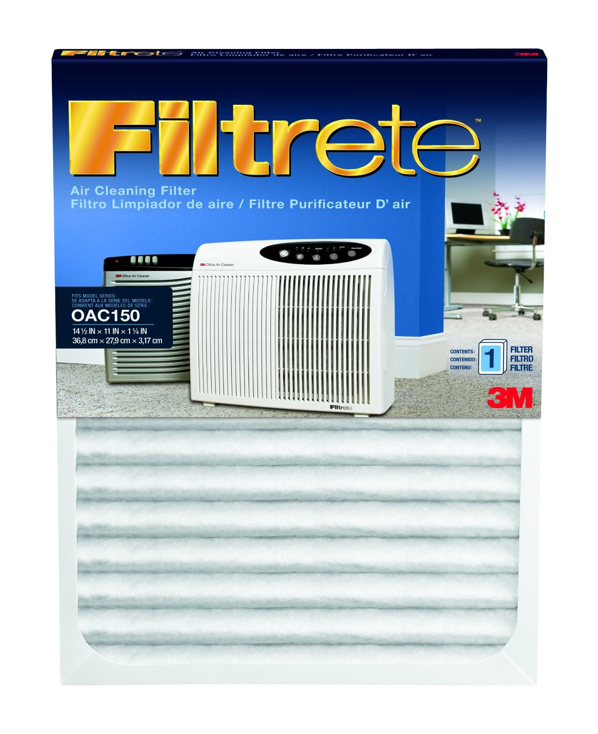 Filtrete OAC150RF Office Air Purifier Replacement Filter FILTRETE-OAC150RF