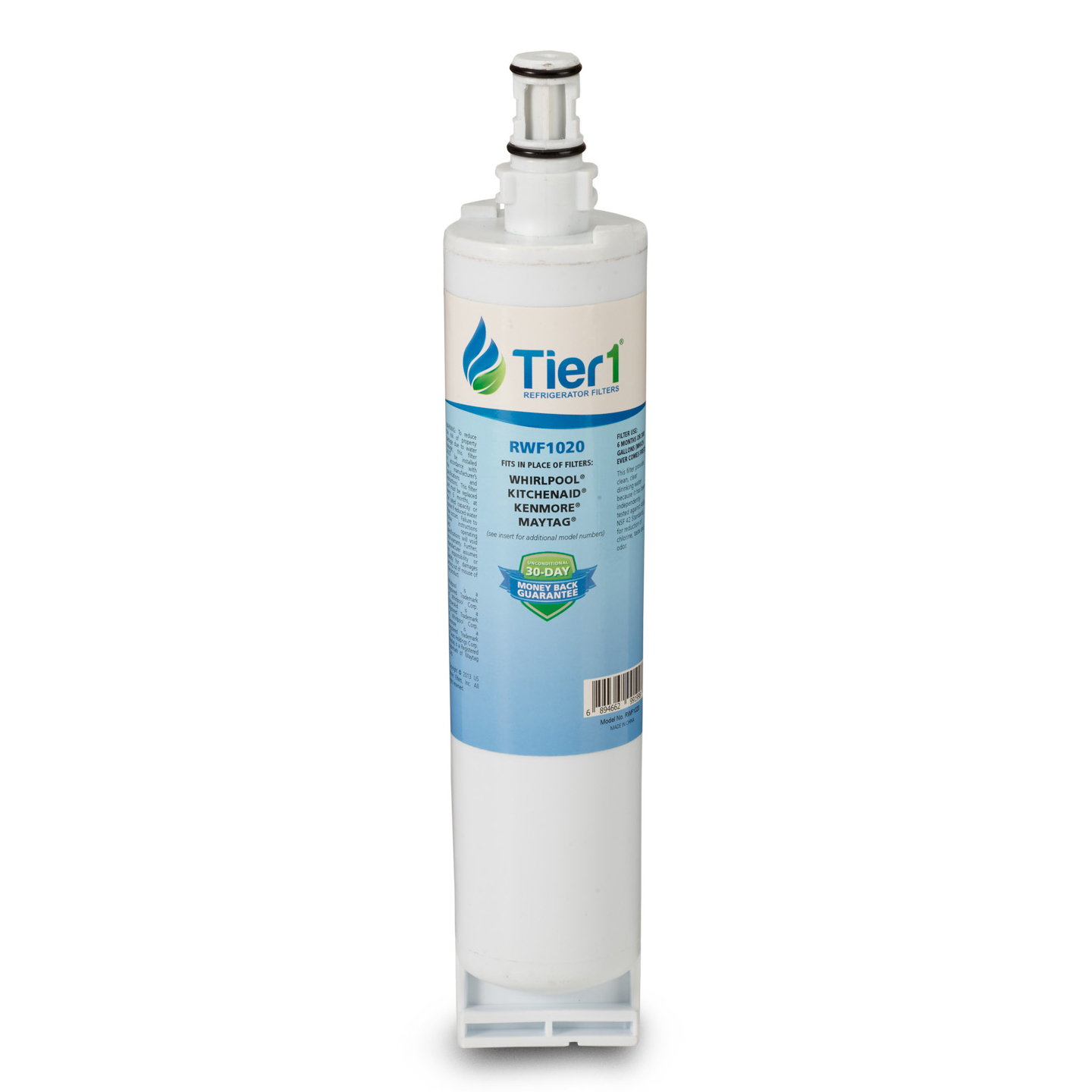 EveryDrop EDR5RXD1 Whirlpool 4396508/4396510 Comparable Refrigerator Water Filter Replacement By Tier1 TIER1-RWF1020