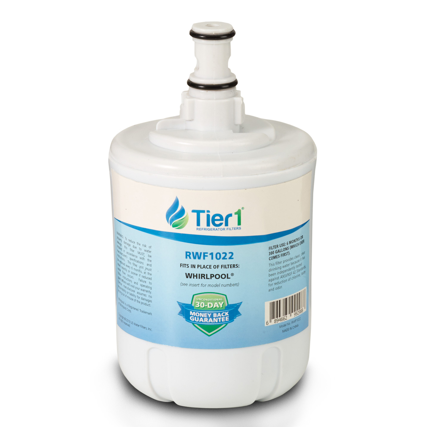 Whirlpool 8171413/8171414 Comparable Refrigerator Water Filter Replacement By Tier1 TIER1-RWF1022