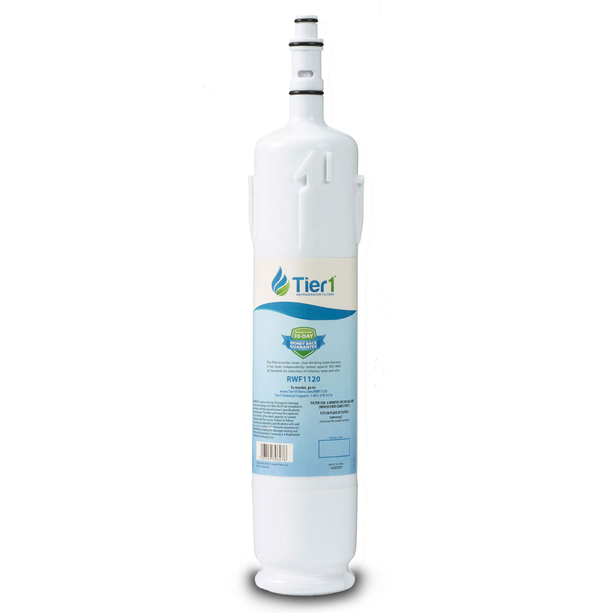 Samsung DA29-00012B Comparable Refrigerator Water Filter Replacement by Tier1 TIER1-RWF1120